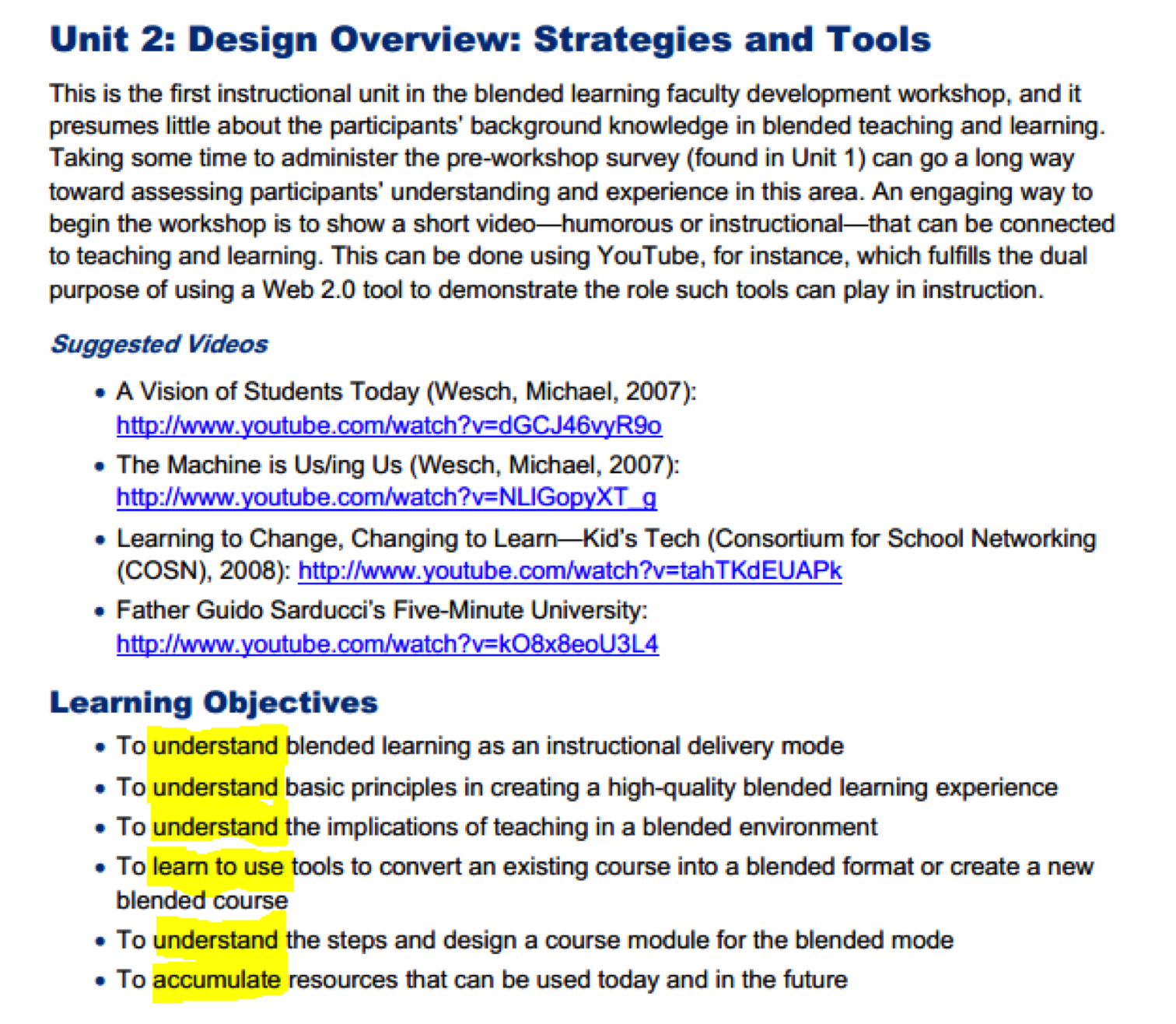 lesson 10 distance education assessments and copyright practice look at this sample list of objectives from a professional development course for teachers click on image to see a larger copy